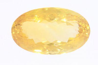 Golden Topaz Gemstone (Citrine/ Sunehla Ratan) 31.90 Carat Weight - Origin India