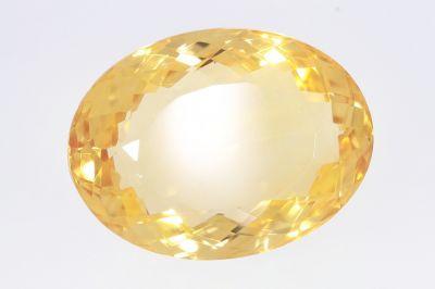 Golden Topaz Gemstone (Citrine Stone-Sunehla) 22.85 Carat Weight - Origin India