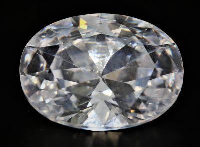 American Diamond Gemstone (White Zircon) - 15.25 Carat Weight - Origin USA