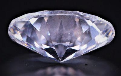 American Diamond Gemstone (White Zircon) - 14.50 Carat Weight - Origin USA