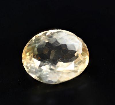 Natural Golden Topaz Gemstone (Citrine/Sunehla) 7.7 Carat Weight - Origin India