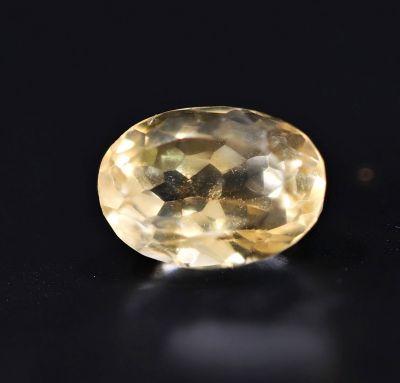 Natural Golden Topaz Gemstone (Citrine/Sunehla) 4.05 Carat Weight - Origin India