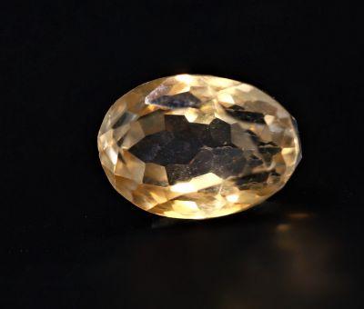 Natural Golden Topaz Gemstone (Citrine/Sunehla) 5.75 Carat Weight - Origin India