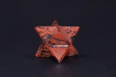 Natural Carnelian Merkaba Star