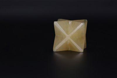 Natural Yellow Quartz Merkaba Star