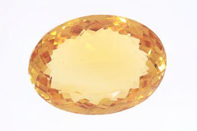 Golden Topaz Gemstone (Citrine/ Sunehla Ratan) 23.05 Carat Weight - Origin India